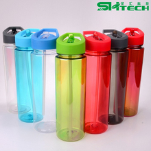 Hot Sale Bpa Free Drinking Plastic Sports Water Bottle with Straw